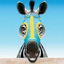 Una simpatica immagine promozionale per Striscia una zebra alla riscossa