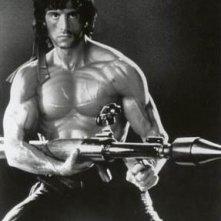 Sylvester Stallone in una foto promozionale per Rambo
