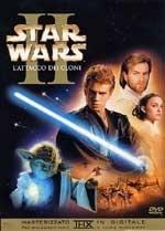La copertina DVD di Star Wars ep. II - L'attacco dei cloni
