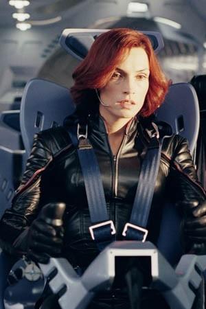 Famke Janssen in una scena di X-men 2