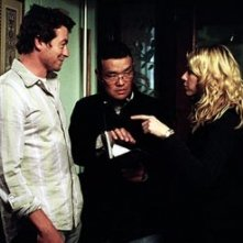Hideo Nakata, Simon Baker e Naomi Watts sul set di The Ring 2