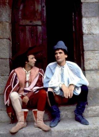 Massimo Troisi e Roberto Benigni sul set di Non ci resta che piangere