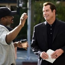 F. Gary Gray e John Travolta sul set di Be Cool