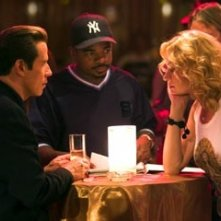 John Travolta e Uma Thurman con F. Gary Gray sul set di Be Cool