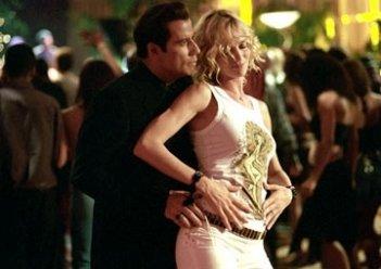 Uma Thurman e John Travolta in una scena di ballo di Be Cool