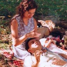 Clovis Cornillac ed Emmanuelle Devos in una scena de La donna di Gilles