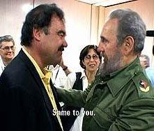 Fidel Castro ed Oliver Stone in una scena di Comandante