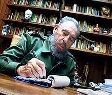 Fidel Castro in una scena di Comandante
