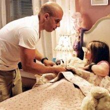 Vin Diesel e Morgan York in una scena di Missione Tata