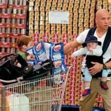 Vin Diesel in una simpatica scena di Missione Tata