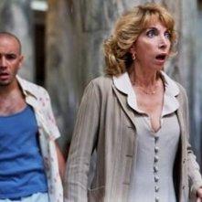 Mariangela Melato in una scena di Vieni via con me