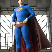Brandon Routh in una sequenza del film Superman Returns