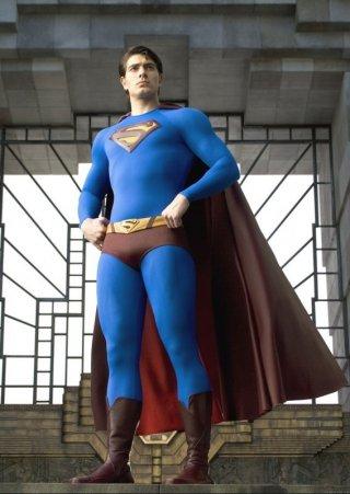 Brandon Routh in una sequenza del film Superman Returns