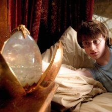 Daniel Radcliffe in una scena di Harry Potter e il calice di fuoco (2005)