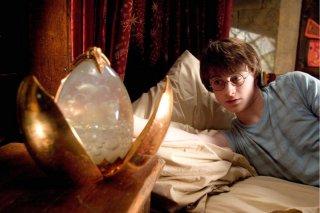 Daniel Radcliffe in una scena di Harry Potter e il calice di fuoco (2005)