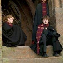 Emma Watson. Rupert Grint e Daniel Radcliffe in una scena di Harry Potter e il calice di fuoco