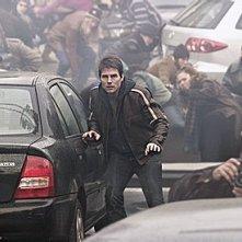 Tom Cruise in una scena de La guerra dei mondi, diretto da Spielberg
