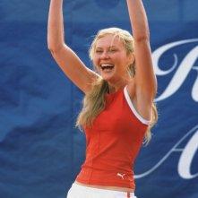 L'attrice Kirsten Dunst in una scena del film Wimbledon