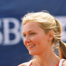 Primo piano di Kirsten Dunst in una scena del film Wimbledon