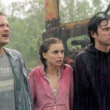 Peter Sarsgaard, Natalie Portman e Zach Braff in una scena del film La mia vita a Garden State