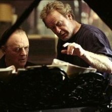 Anthony Hopkins e Ridley Scott sul set di Hannibal