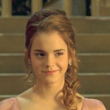 Emma Watson in una scena del film Harry Potter e il calice di fuoco