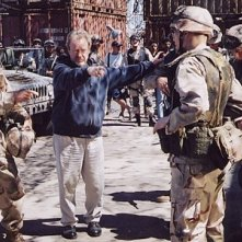 Ridley Scott sul set di Black Hawk Down