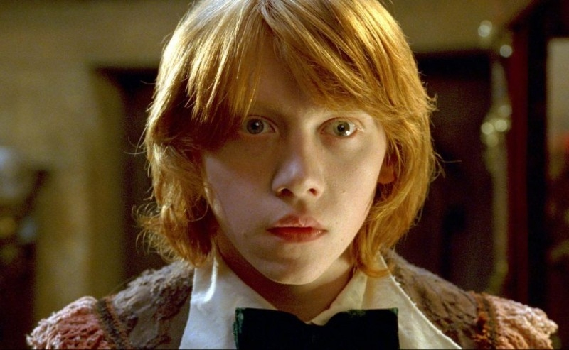 Rupert Grint in una scena del film Harry Potter e il calice di fuoco