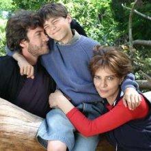 Alessio Boni, il picolo Marco Ragno e Laura Morante in una scena di Non aver paura