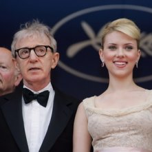 Woody Allen e Scarlett Johanssona Cannes per presentare Match Point