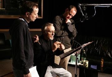 Fenton Bailey E Randy Barbato Con Dennis Hopper Sul Set Di Inside Gola Profonda 14056