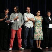 Festival de Cannes 2005: Daniele Vicari regista de L'orizzonte degli eventi insieme a Valerio Mastandrea