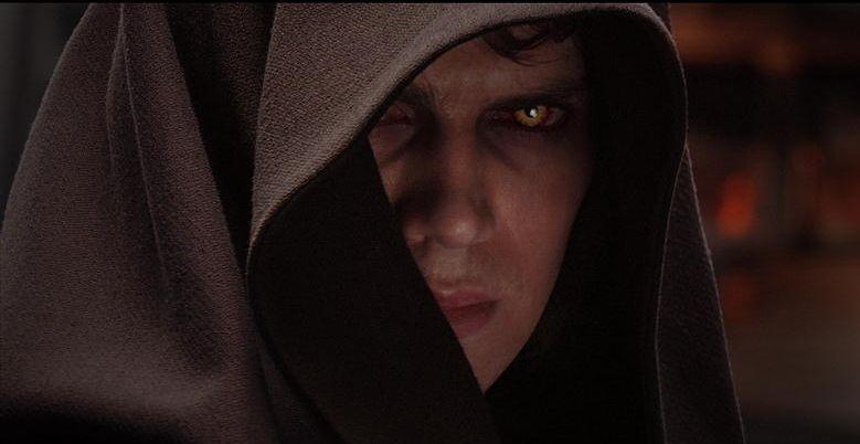 Hayden Christensen in una sequenza del film Star Wars ep. III - La vendetta dei Sith