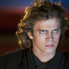 Hayden Christensen in una scena del film Star Wars ep. III - La vendetta dei Sith