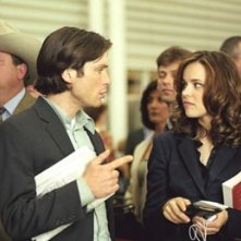 Cillian Murphy e Rachel McAdams in una scena di Red Eye