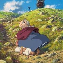 Una scena del film d'animazione Il castello errante di Howl