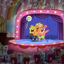 Una scena del film d'animazione The SpongeBob SquarePants Movie