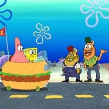 Una scena del cartone animato The SpongeBob SquarePants Movie
