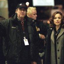 Wes Craven e Rachel McAdams sul set di Red Eye
