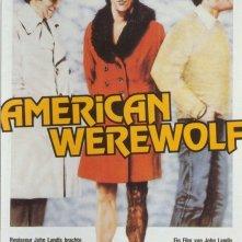 Il manifesto tedesco di Un lupo mannaro americano a Londra