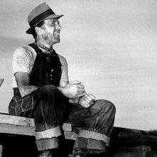 Humphrey Bogart sul set de Il tesoro della Sierra Madre