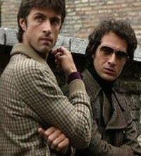 Kim Rossi Stuart e Claudio Santamaria sul set di Romanzo Criminale
