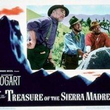 UNa lobbycard promozionale per Il tesoro della Sierra Madre
