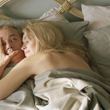 Bill Murray e Sharon Stone in una scena di Broken Flowers