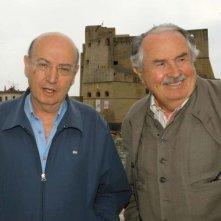 Theo Angelopoulos e Tonino Guerra al Napoli Film Festival 2005