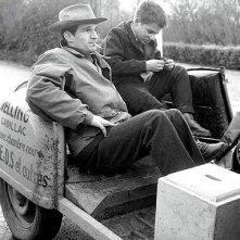 Jean-Pierre Leaud e Francois Truffaut sul set de I 400 colpi