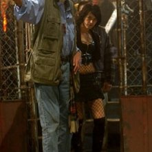 George A. Romero ed Asia Argento sul set di Land of the Dead