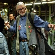 George A. Romero sul set di Land of the Dead