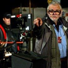 George A. Romero  sul set di Land of the Dead