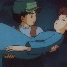 Il castello nel cielo: una colorata scena del film diretto da Hayao Miyazaki